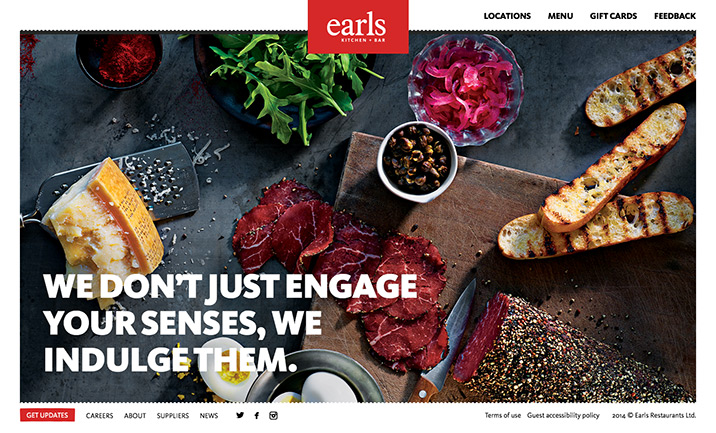 Earls website