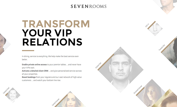 SevenRooms website