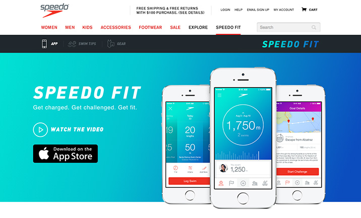 Speedo Fit website