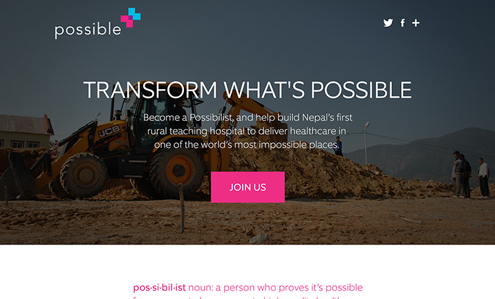 Transform What's Possible website