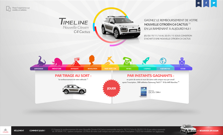 C4 Cactus Timeline website
