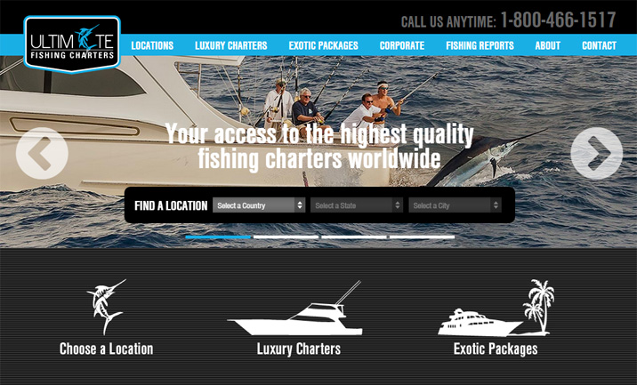 Ultimate Fishing Charters website