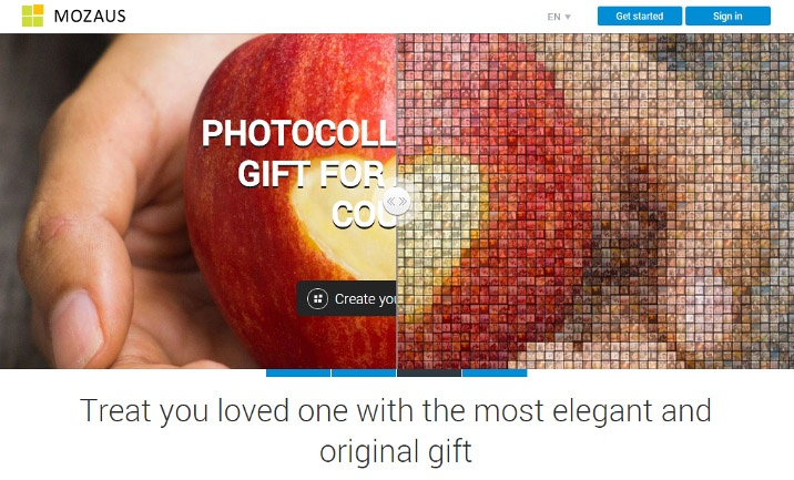 Online Photo Mosaic Maker website