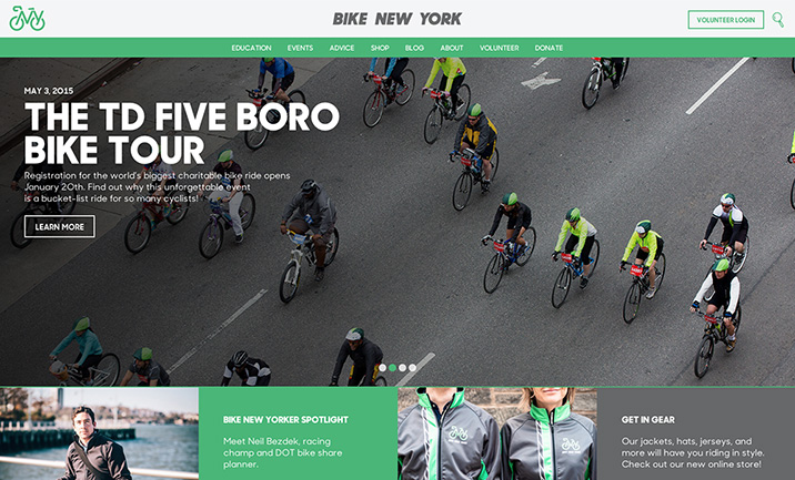 Bike New York website