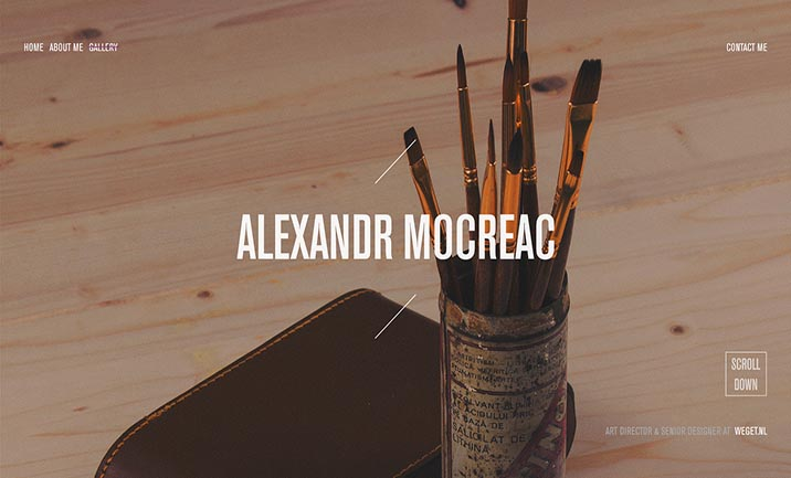 Alexandr Mocreac - Portfolio website