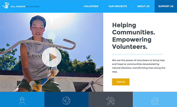 All Hands Volunteers website
