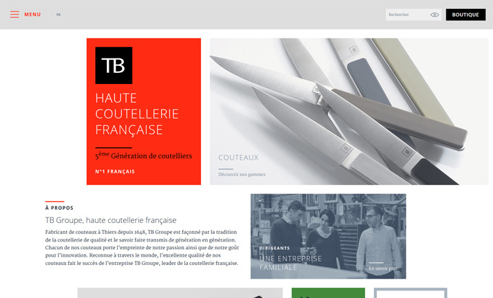 TB Haute Coutellerie website