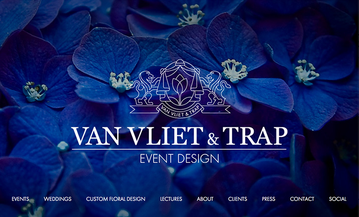 Van Vliet & Trap Event Design website