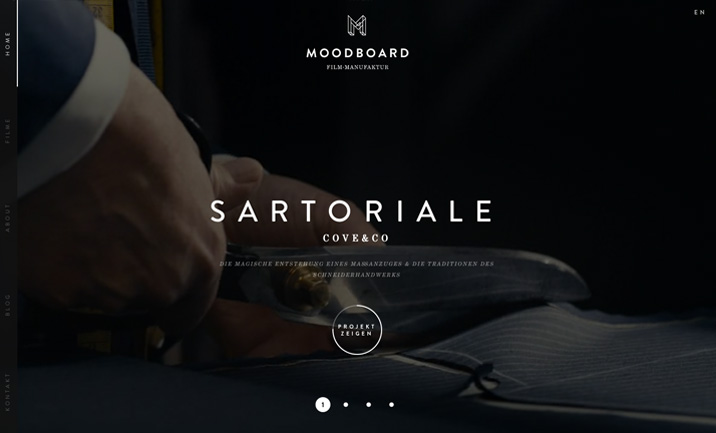 MOODBOARD website