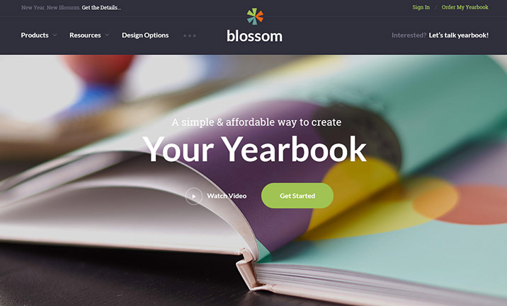 Blossom Yearbooks website