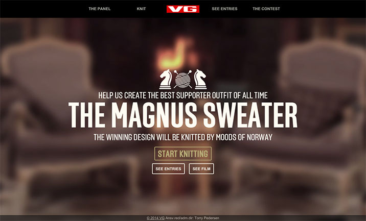 The Magnus Sweater website
