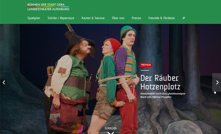 Theater Gera website