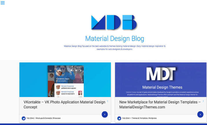 Material Design Blog website