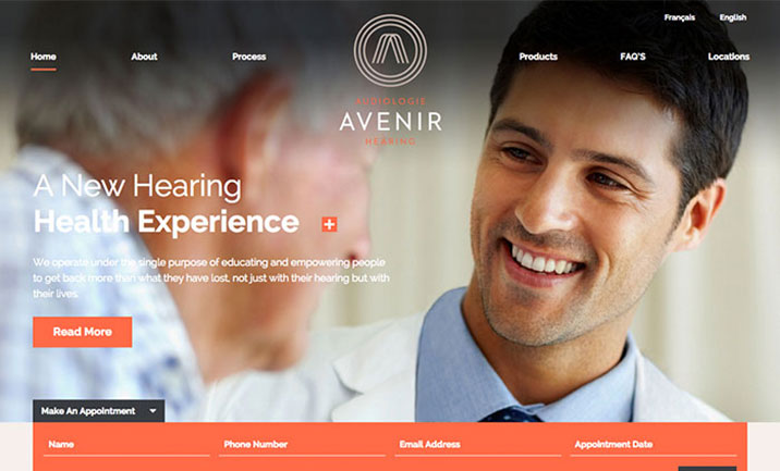 Avenir Hearing website