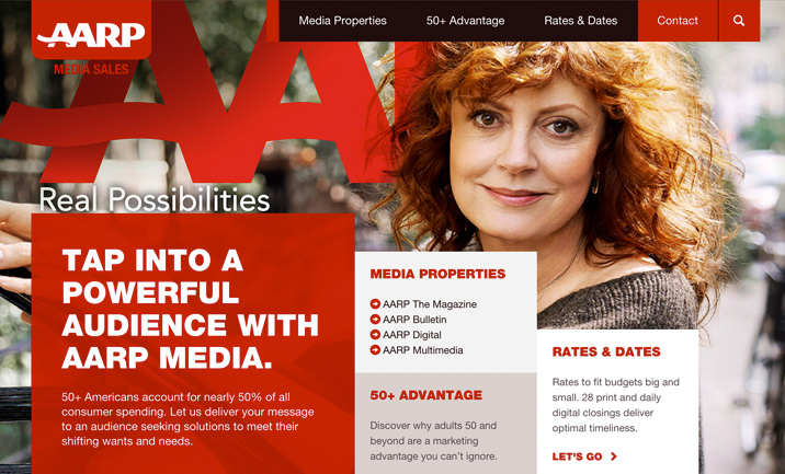AARP Media Sales website
