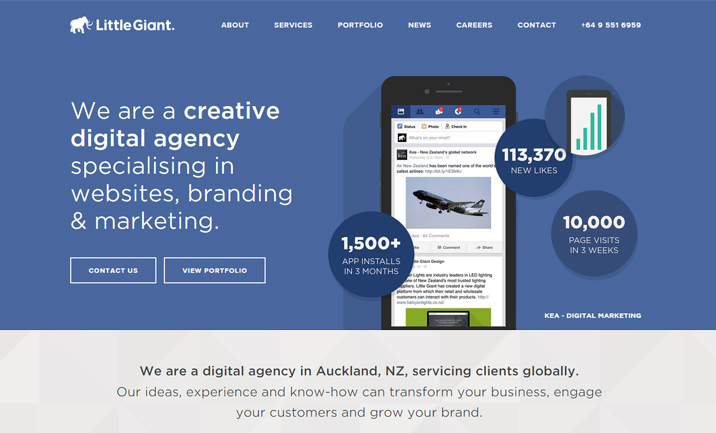 Little Giant digital agency website
