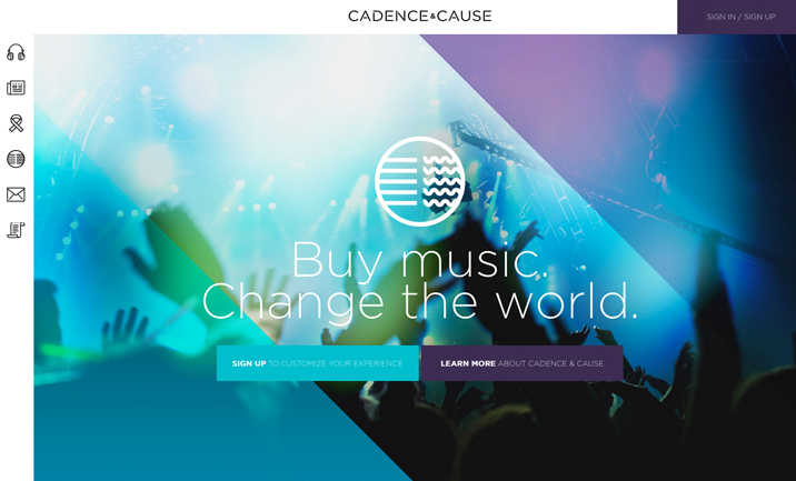 Cadence & Cause website