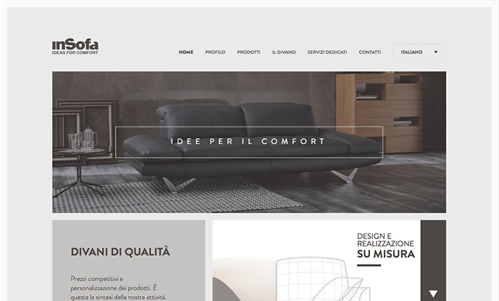 InSofa, Ideas of Comfort website