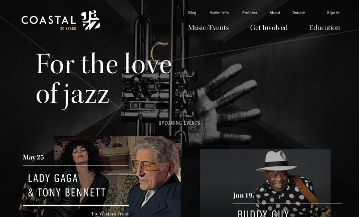 Coastal Jazz website