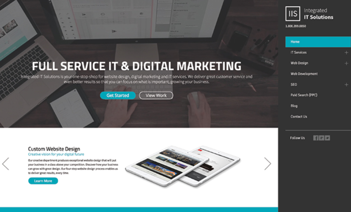 Integrated IT Solutions website