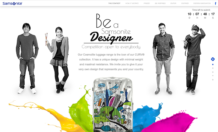Be a Samsonite Designer website