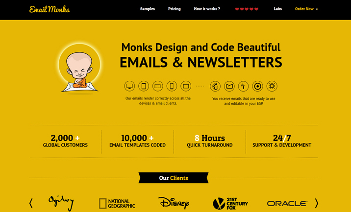 Email Monks website