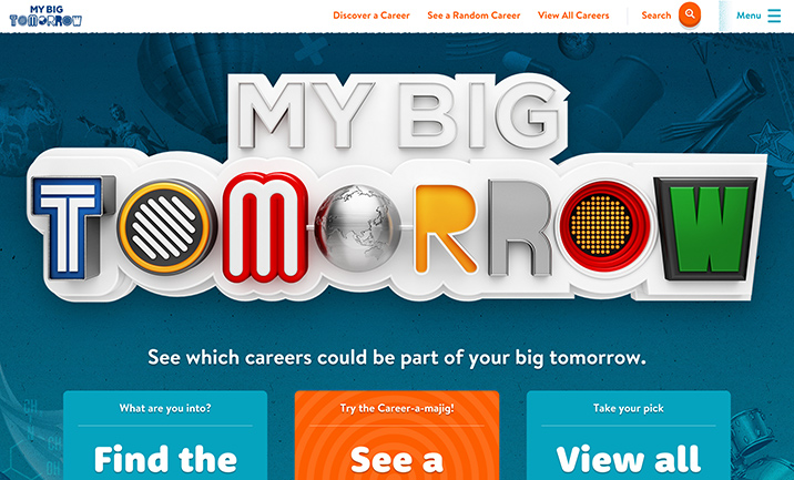 My Big Tomorrow website