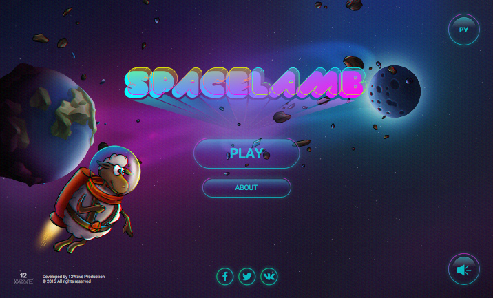 SpaceLamb Game website