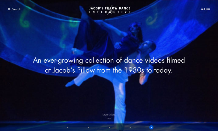 Jacob's Pillow Dance Festival website