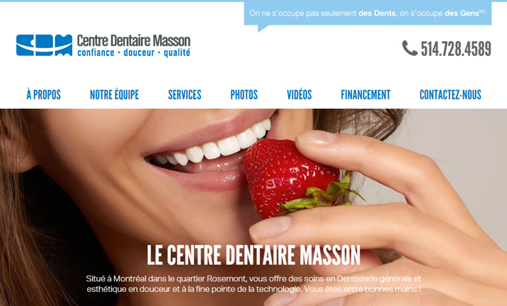 Centre Dentaire Masson website