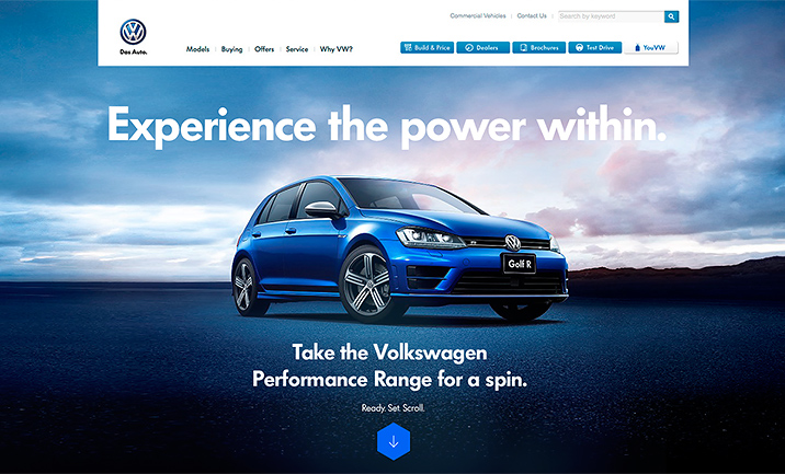 Volkswagen Performance - Aust website