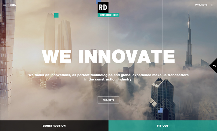 RD Construction website