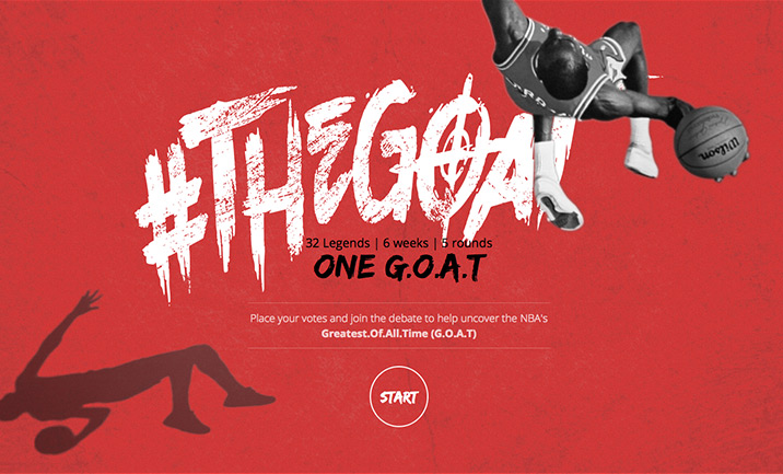 The G.O.A.T - The NBA's Greatest  website