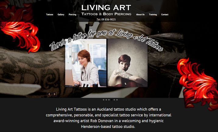 Auckland Tattoo Studio website