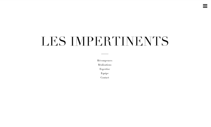 Les Impertinents website