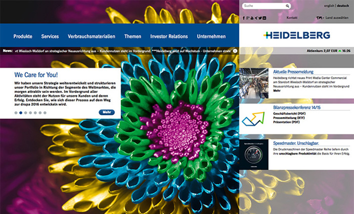 Heidelberger Druckmaschinen AG website