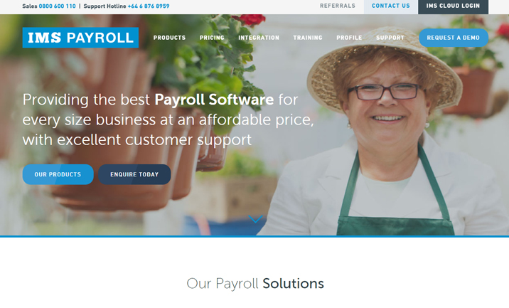 IMS Payroll website