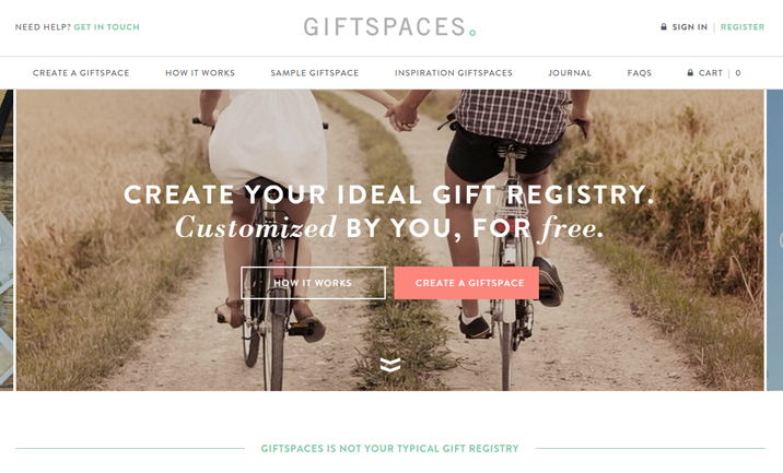 Giftspace website