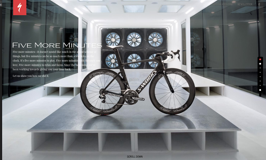 Specialized Bicycles website
