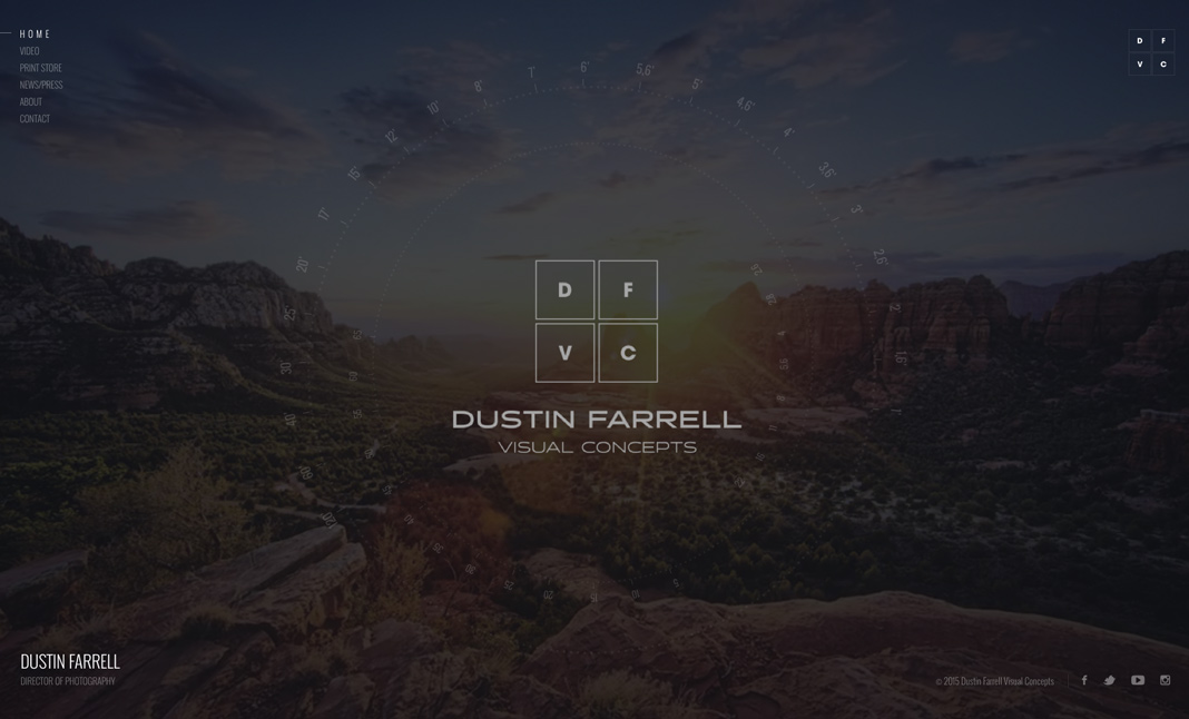 Dustin Farrell Visual Concepts website