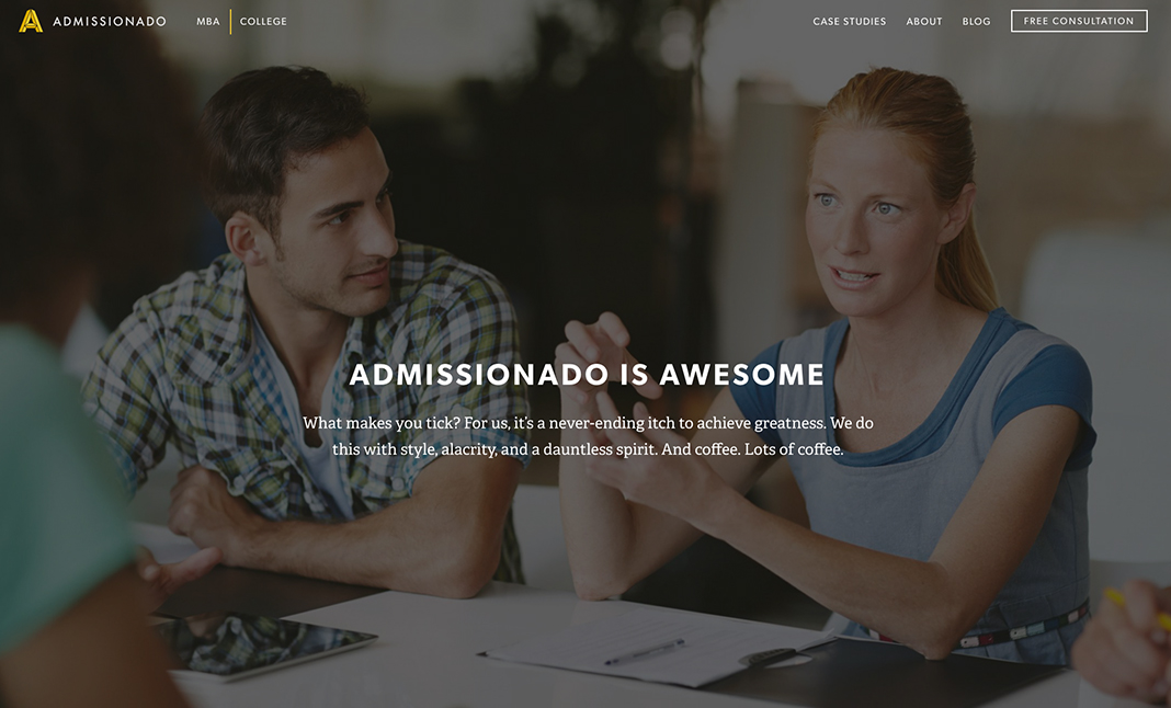 Admissionado website