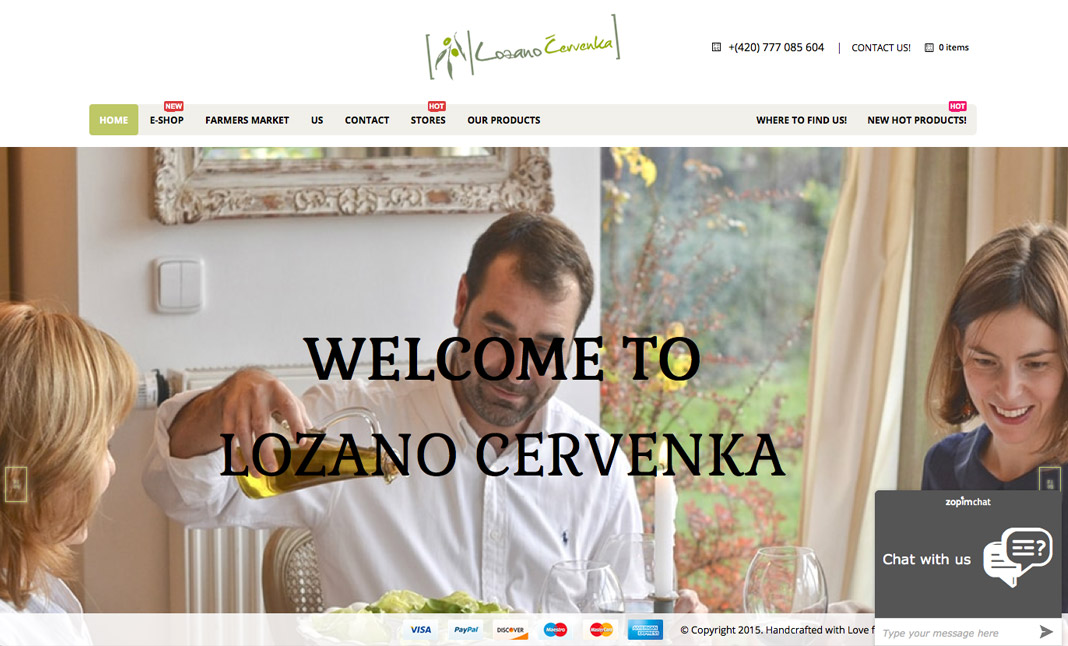 Lozano Cervenka website