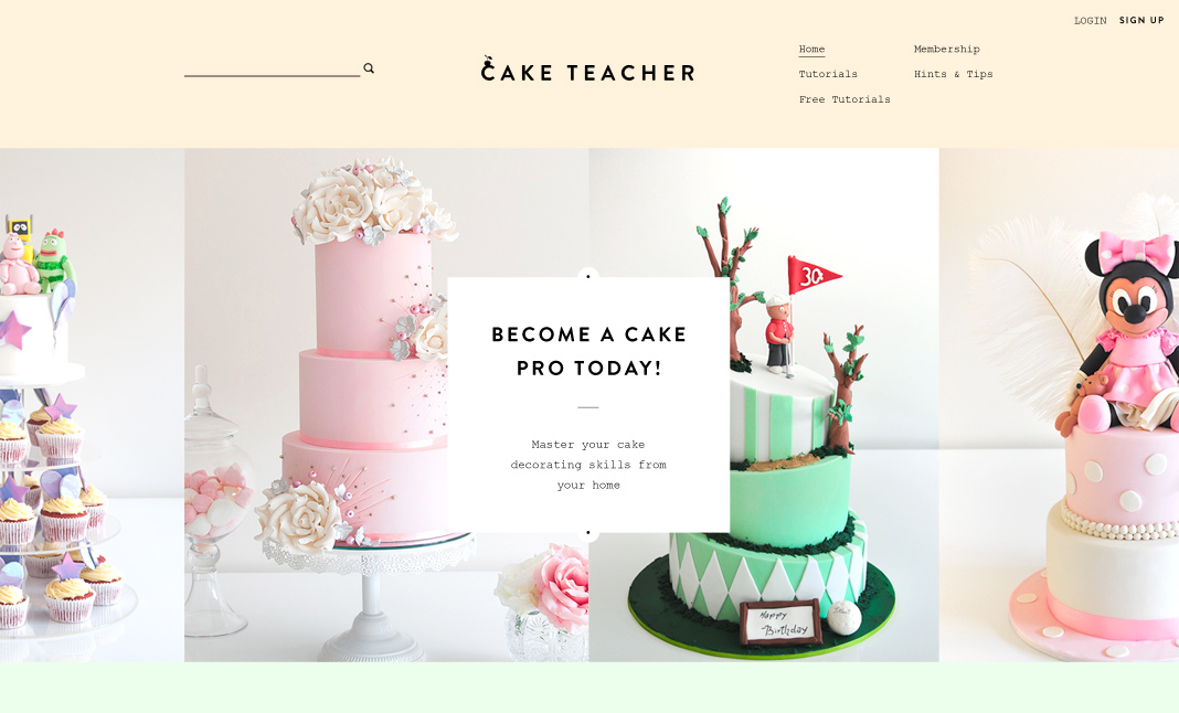 Cake Teacher website