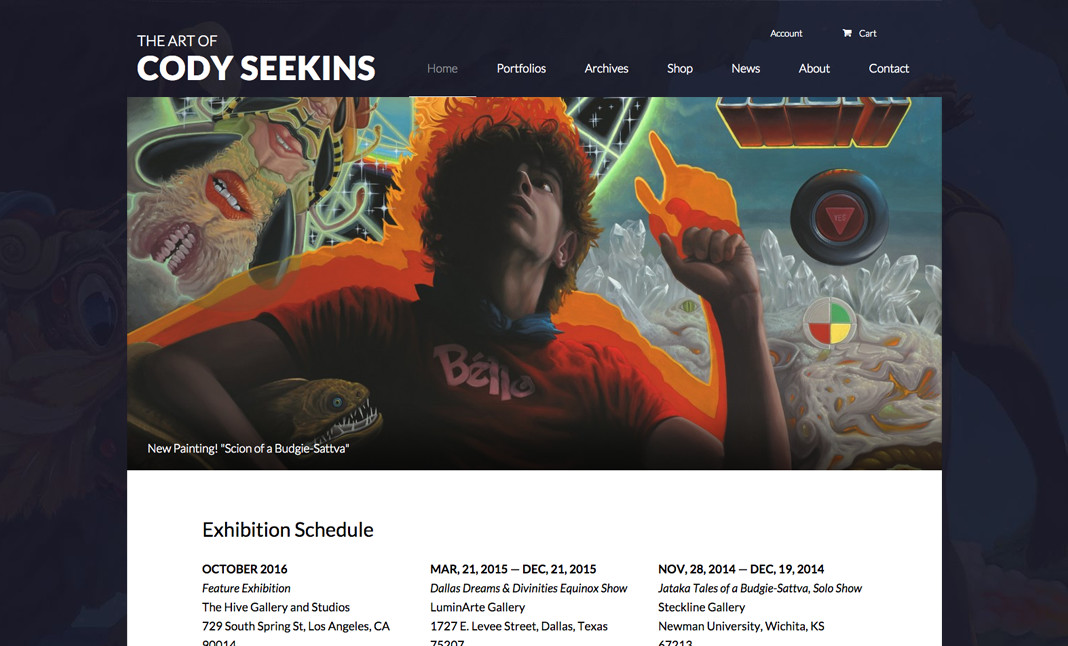 The Art of Cody Seekins website