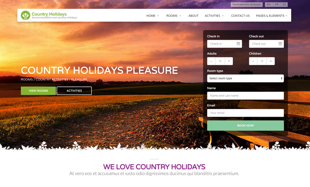 CountryHolidays website