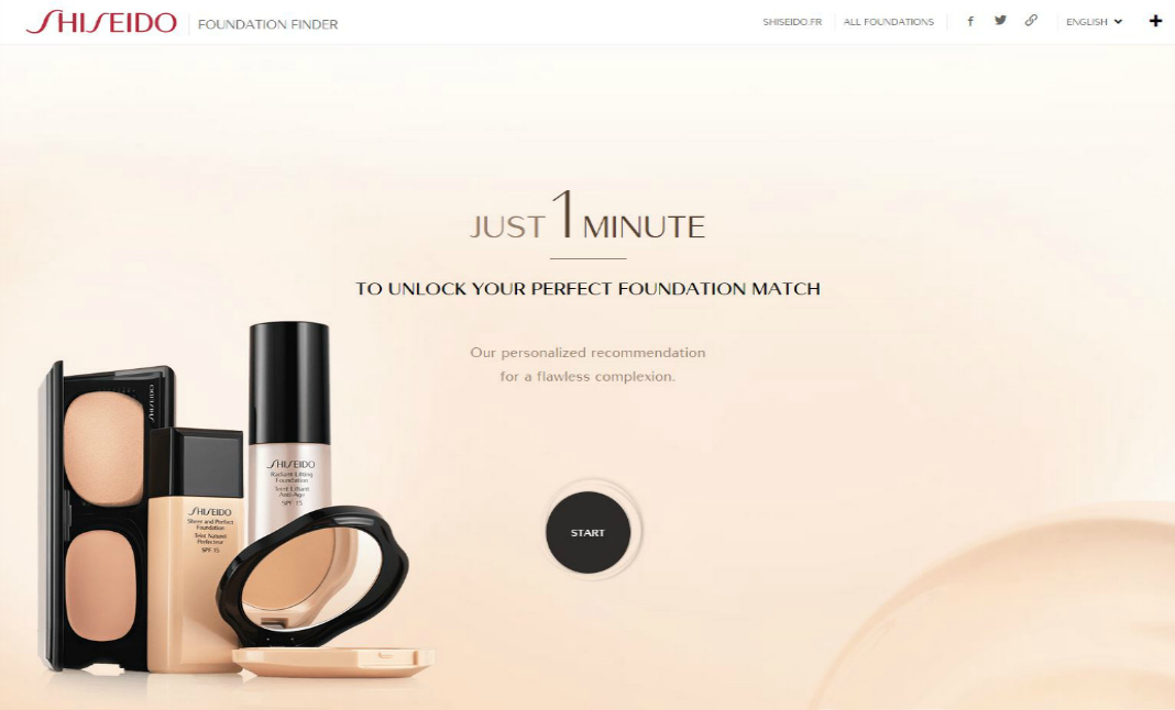 Foundation Finder by Shiseido website