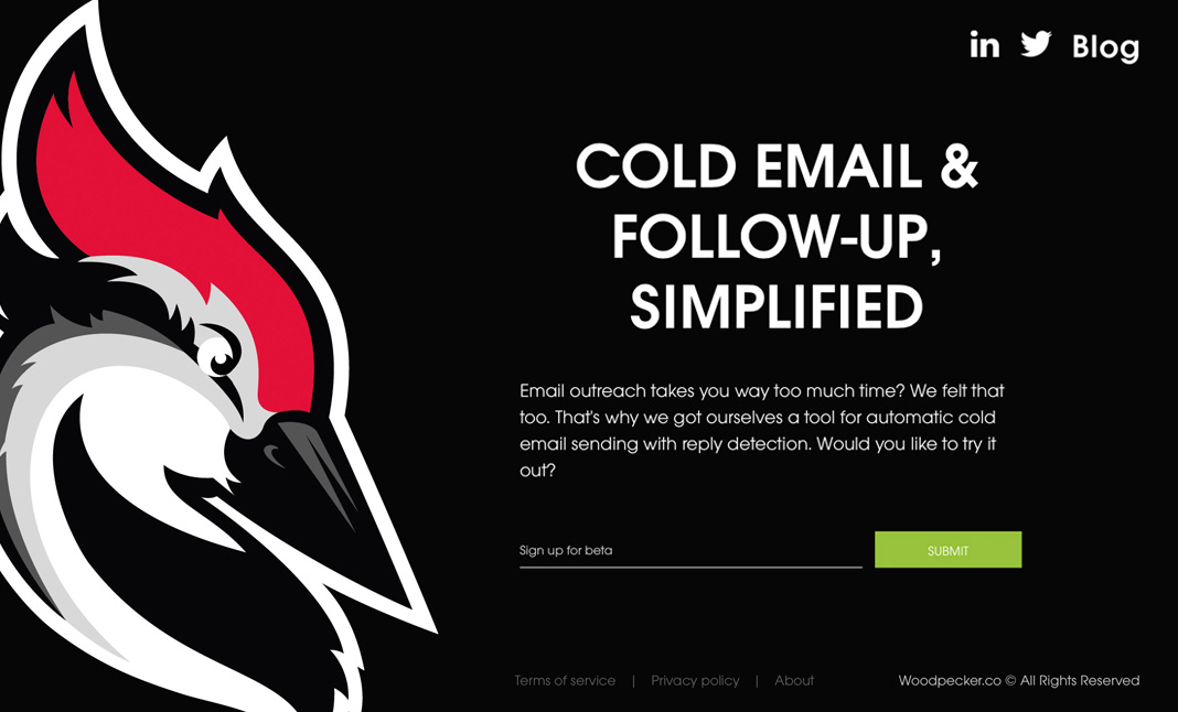 Woodpecker.co website