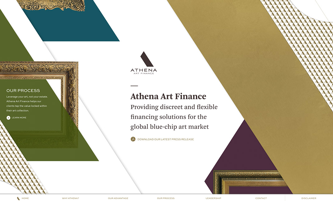 Athena Art Finance website
