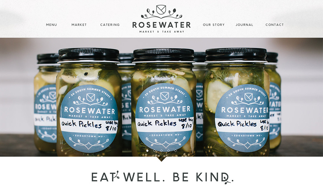 Rosewater Market & Take Away website