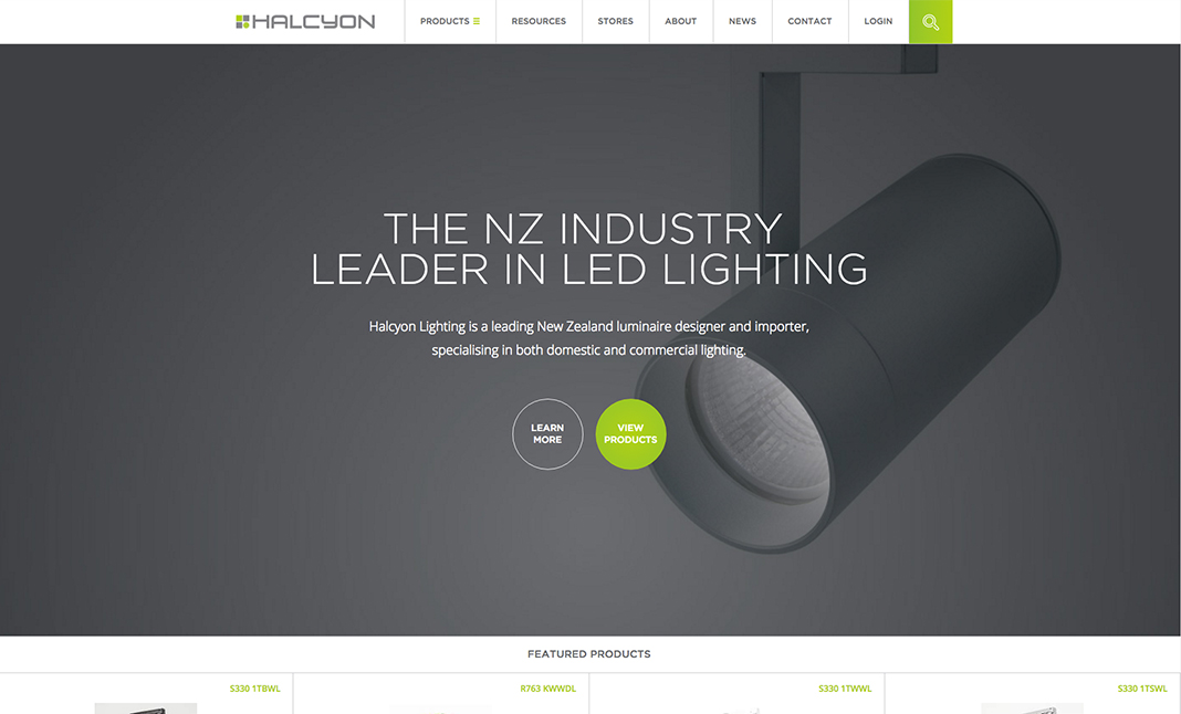 Halcyon Lighting website